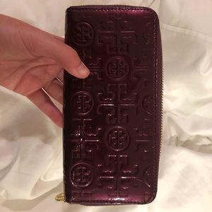 Tory Burch plum wallet